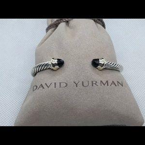 David Yurman Classic Cable 14K Gold & Black Onyx